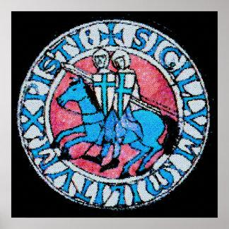 Sello de Templar de los caballeros Poster