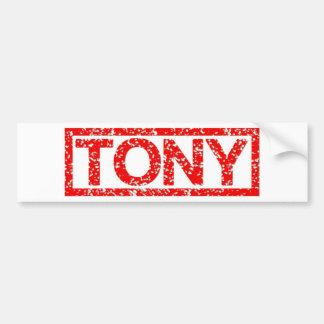 Sello de Tony Pegatina Para Auto