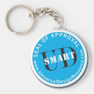 Sello de UD-Smart de la aprobación Llavero Redondo Tipo Pin
