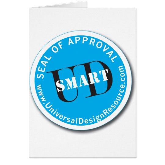 Sello de UD-Smart de la aprobación Tarjeta De Felicitación