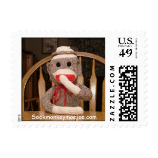 Sello de USPS del mono del calcetín de Joe.