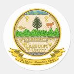 Sello de Vermont Pegatinas Redondas