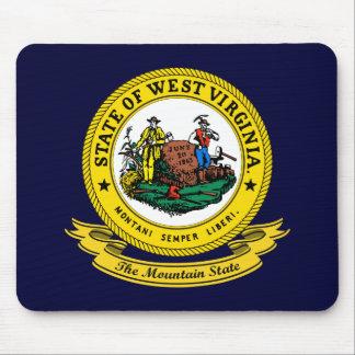 Sello de Virginia Occidental Alfombrilla De Ratón