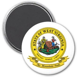 Sello de Virginia Occidental Imán Redondo 7 Cm