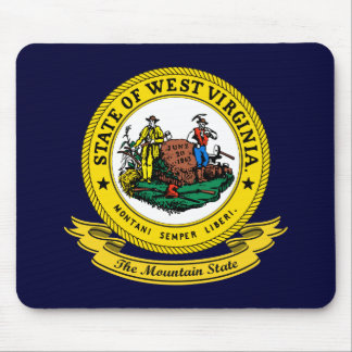Sello de Virginia Occidental Tapete De Ratón