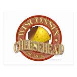 Sello de Wisconsin Cheesehead Postales