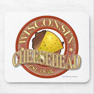 Sello de Wisconsin Cheesehead Alfombrillas De Ratones