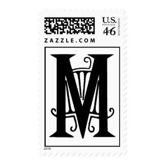 Sello decorativo de la letra M