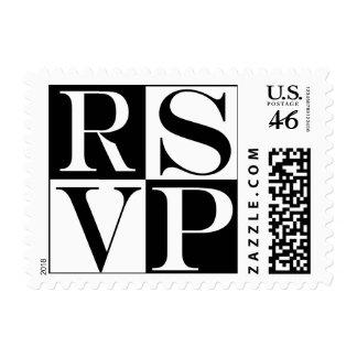 Sello del acontecimiento y del boda de RSVP