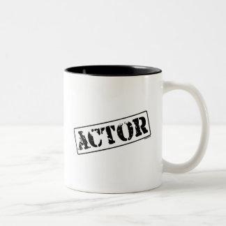 Sello del actor taza de dos tonos