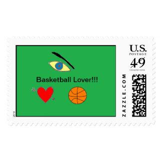 Sello del amante del baloncesto