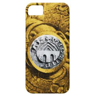 SELLO del amarillo del oro de los CABALLEROS iPhone 5 Case-Mate Funda