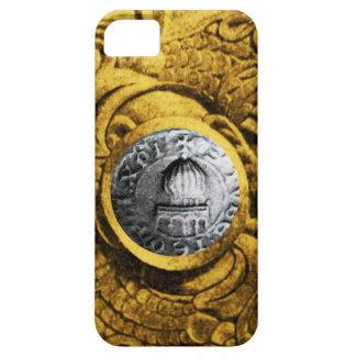 SELLO del amarillo del oro de los CABALLEROS iPhone 5 Cobertura