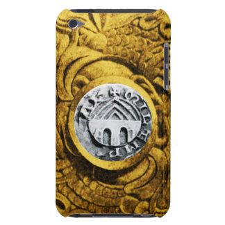 SELLO del amarillo del oro de los CABALLEROS iPod Case-Mate Cárcasa