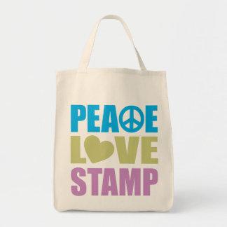 Sello del amor de la paz bolsa