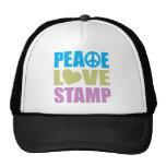 Sello del amor de la paz gorra