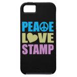 Sello del amor de la paz iPhone 5 Case-Mate fundas