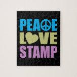 Sello del amor de la paz rompecabezas