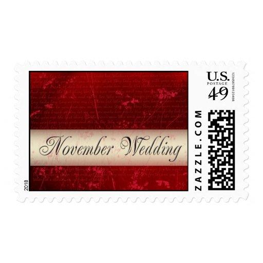 Sello del amor del boda de noviembre