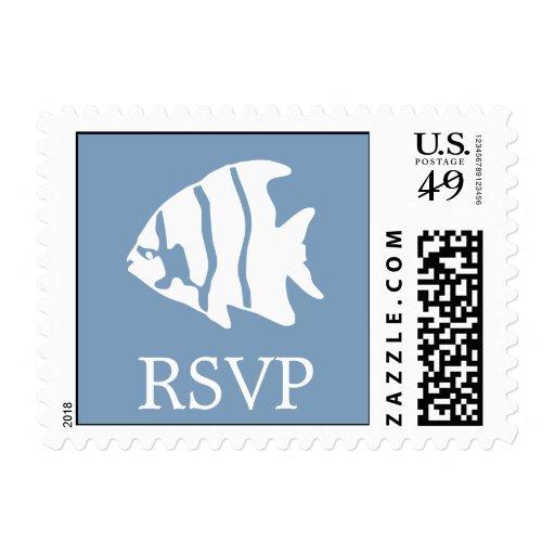 Sello del Angelfish (gris azul de RSVP)
