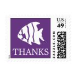 Sello del Angelfish (púrpura oscura de las gracias