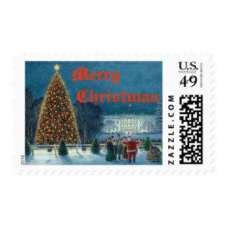 """Sello del """"árbol de navidad nacional"""" de Paul"""