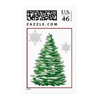 Sello del árbol de navidad y de las escamas