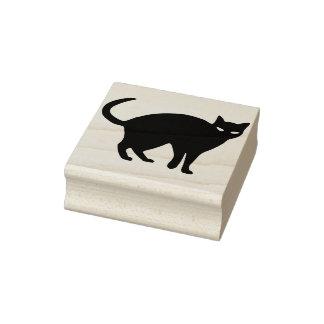 Sello del arte de la silueta del gato negro 2