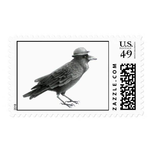 Sello del arte del cuervo