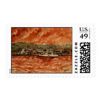 sello del barco del poder de la pintura del yate