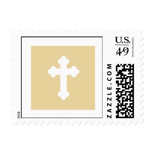 Sello del bautizo - cruz del oro