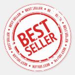 Sello del bestseller etiqueta redonda