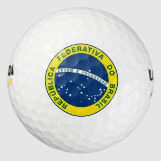 sello del Brasil Pack De Pelotas De Golf