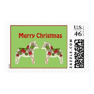 Sello del caballo de Dala de Quilter del navidad