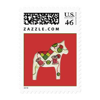 Sello del caballo de Dala del navidad