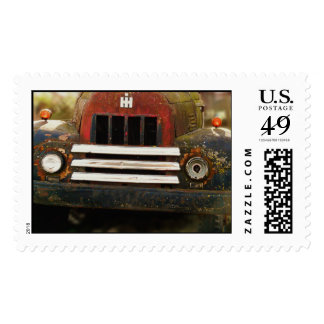 Sello del camión de la granja del vintage