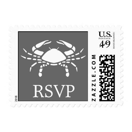 Sello del cangrejo (gris de RSVP)