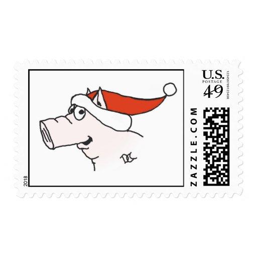 Sello del cerdo de Navidad
