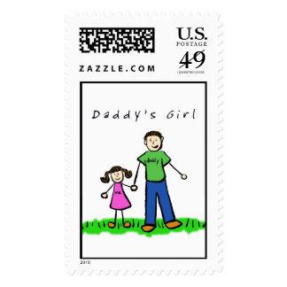 Sello del chica del papá