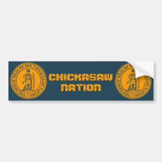 Sello del Chickasaw Pegatina De Parachoque