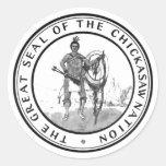 Sello del Chickasaw Pegatinas Redondas