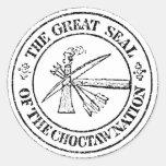 Sello del Choctaw Etiqueta Redonda