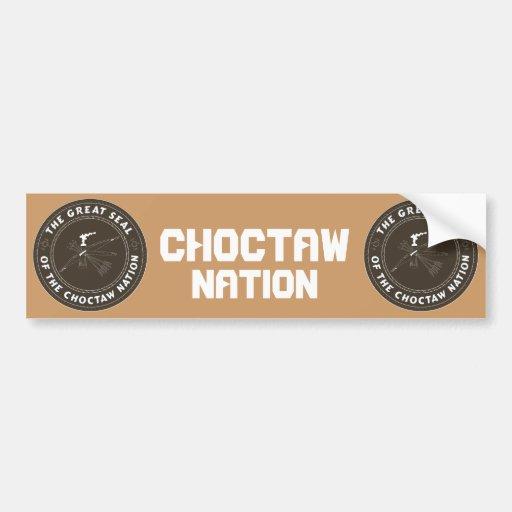Sello del Choctaw Pegatina De Parachoque