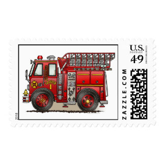 Sello del coche de bomberos de la escalera