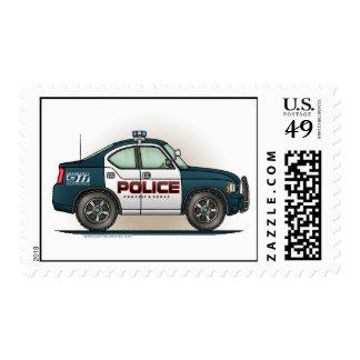 Sello del coche del interceptor de la policía