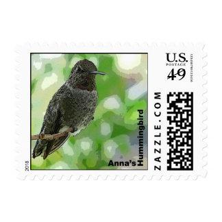 Sello del colibrí de Ana