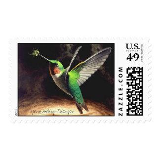 Sello del colibrí del vuelo