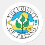Sello del condado de Fresno Pegatina Redonda