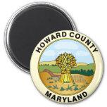 Sello del condado de Howard Imán Redondo 5 Cm
