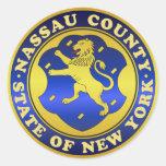 Sello del condado de Nassau Etiqueta Redonda